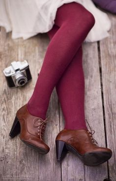 Brown Heeled Oxfords