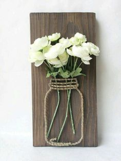 String art flowers in mason jar - awesome!