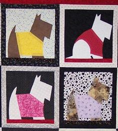 Adorable Cairn quilt - one of the many prizes you could win on Col. Potter Cairn Rescue Network's New Leash on Life fundraiser.  $15 donation per square - 150 different prizes.  Funds help rescue Cairns in need.  Please check it out at cairnrescue.com.