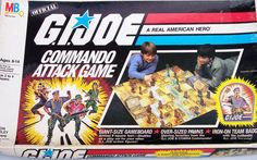 G.I. Joe Commando Attack (1985) Both the G.I. Joe and Cobra teams consist of two squads of six soldiers each. Depending on the number of players, each player controls one or two squads. The object is to enter the enemy headquarters. Combat is resolved by dice rolls. Ganging up with two soldiers allows an extra die roll (choose the higher number) and two chances to win the battle (only one of your soldiers may be captured at a time). There are also rules for freeing captured allies and…