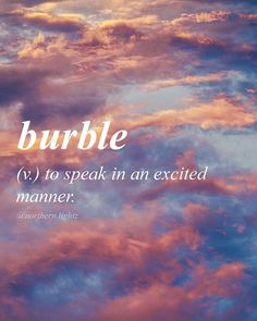We have exciting news that we will be sharing later! Turn on our post notifications so you never miss a post ♡ Middle English //bur-buh l//… Fancy Words, Cute Words, Weird Words, Big Words, Words To Use, Pretty Words, Beautiful Words, Words Of Love, Unusual Words