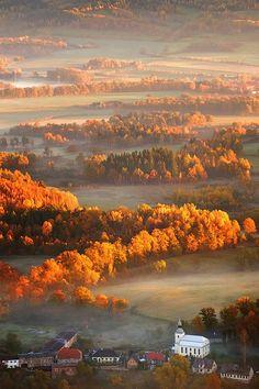 Autumn in Mountain Village, Poland