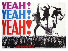 A Hard Day's Night, German Movie Poster, 1964 Giclee Print at Art.com