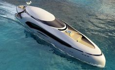 Futuristic Yacht: Oculus 250-foot luxury yacht inspired by an oceanic fish by E. Kevin Schöpfer for Schöpfer Yachts LLC