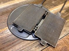 Antique vintage BELGIAN WAFFLE Iron cast iron with by StatusDog $180.00. Holy Hell this thing looks huge!