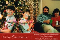 This family is doing Christmas cards right.  I plan on doing this one year.