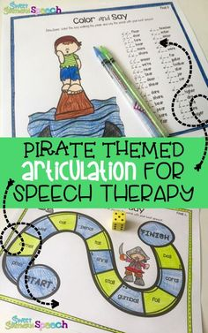 I love this no prep articulation activity for speech therapy - My kids love Pirates!
