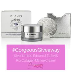 #GorgeousGiveaway Limited Edition #ELEMIS Pro-Collagen Marine Cream #moisturizer #Antiaging #beauty #giveaway #freebie #beautyinthebag