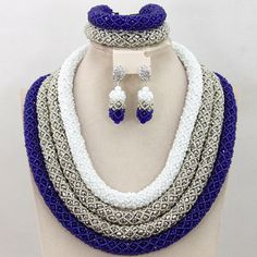 4 layer luxurious African Nigerian Beads Indian Wedding by Eaoza
