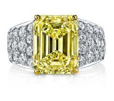 Joshua J fancy yellow #diamond ring