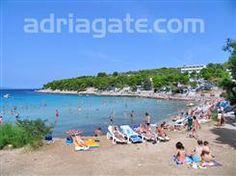 Sandy beaches - A guide to the beaches - Slanica beach, North Dalmatia, Sibenik riviera, Murter - island Murter, sandy and concrete slabs