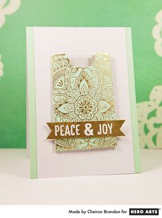 Card: Peace & Joy Gift Card Holder by Cheiron Brandon for Hero Arts Crafty Christmas Gifts, Simple Christmas Cards, Holiday Cards, Christmas Crafts, Christmas Ornaments, Homemade Gifts, Homemade Cards, Gift Card Presentation, Hero Arts Cards