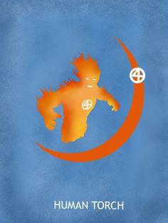 Human Torch Poster /// by ~Mr-Saxon on deviantART