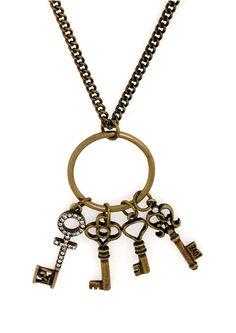 Penthouse Antique Key Necklace $17.99