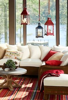 7 Astounding Tricks: Living Room Remodel With Fireplace Benjamin Moore small living room remodel stairs.Livingroom Remodel Front Porches living room remodel with fireplace french doors.Living Room Remodel With Fireplace Furniture Arrangement. Patio Interior, Interior Exterior, Interior Design, Coastal Living Rooms, Cottage Living, Lake Cottage, Coastal Rugs, Coastal Bedding, Rustic Cottage