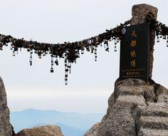 Love locks at the top of Heavenly Capital Peak, Huang Shan.