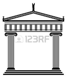 vector ancient greek architecture with columns