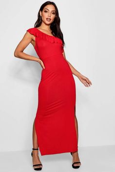 boohoo Molly One Shoulder Frill Maxi Dress. Maxi dress fashions. I'm an affiliate marketer. When you click on a link or buy from the retailer, I earn a commission.