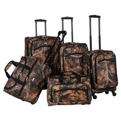 American Flyer Camo 5-piece Spinner Luggage Set - Overstock™ Shopping - Great Deals on American Flyer Five-piece Sets