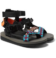 Prada Rubber and Webbing Sandals cheap sale outlet footlocker finishline cheap price cheap sale pre order J12JXpE3Y