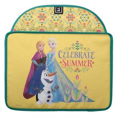 Anna and Elsa Celebrate Summer Sleeve For MacBook Pro , Disney Princess Gifts, Ice Princess, Disney Frozen Elsa, Disney Fun, Macbook Sleeve, Macbook Pro, Frozen Merchandise, Snow Queen, Dog Bowtie