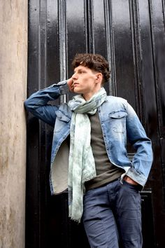 Denim style scarf for modern gentleman by definite glam. Men's Scarves, Modern Gentleman, Denim Style, Scarf Styles, Denim Fashion, Fashion Boutique, Elegant, Casual, Collection
