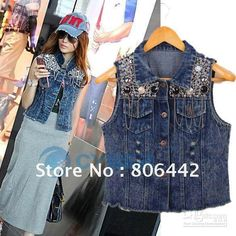 Searching for affordable Lady Jean Vest in Women's Clothing, Mother & Kids, Underwear & Sleepwears, Home & Garden? Buy high quality and affordable Lady Jean Vest via sales. Enjoy exclusive discounts and free global delivery on Lady Jean Vest at AliExpress Jean Vest Fashion, Coast Fashion, Sleeveless Jacket, Diy Clothing, Jeans Style, Denim Jeans, Clothes For Women, Lady, Womens Fashion