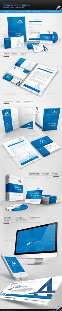 Corporate Identity - Market Rise  #GraphicRiver         The logo is not included, but you can find it here: