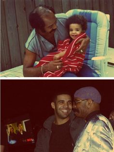 Rapper Drake and his father