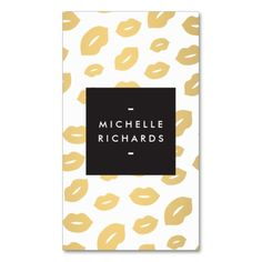 Glam Gold Lip Print for Makeup Artists Business Cards. This is a fully customizable business card and available on several paper types for your needs. You can upload your own image or use the image as is. Just click this template to get started!