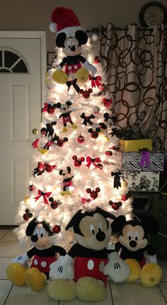 mickey mouse christmas tree diy