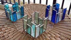 Stained Glass Candle Holders by Reflections of Glass, via Flickr