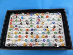 Assorted mixed color gemstone fashion rings $1 - http://www.wholesalesarong.com/blog/assorted-mixed-color-gemstone-fashion-rings-1/
