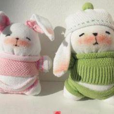 Comment réaliser des lapins à l'aide de chaussettes, idéal pour les enfants!