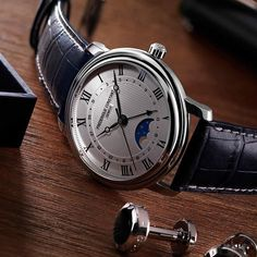 Frederique Constant Classics Auto Moonphase.  Perfect for Boardroom to Ballroom