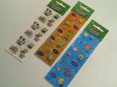Spongebob Detash Stickers  3 small sheets by IdleHandsYarnSupply, $2.25