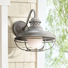"Franklin Park Metal Cage 16"" High Steel Outdoor Wall Light - #4F500 