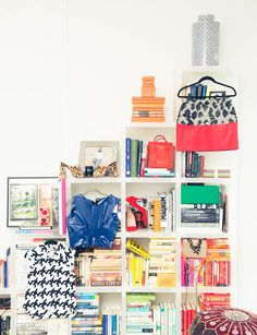 Of course she has Balenciaga in her bookshelves.
