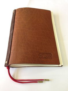 Handmade refillable brown leather journal notebook by Nebulagalata, $55.00