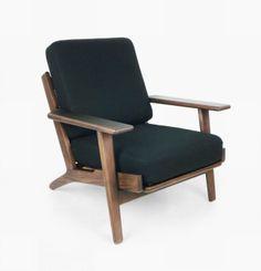 Black Wool Arm Chair
