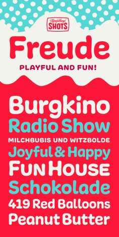 Freude by Typejockeys, via Behance Round Font, Red Balloon, Typography, Lettering, Happy Fun, Lower Case Letters, Lowercase A, Joy, Album