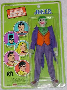 "Mego Action Figures ""Joker"" this is a rare toy in the box this will cost 1000$ is the are blue joker face os the box this will cost 4000$"