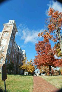 Old Main on University of Arkansas campus - - Fayetteville, Arkansas