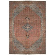19th Century Bidjar Rug | From a unique collection of antique and modern central asian rugs at https://www.1stdibs.com/furniture/rugs-carpets/central-asian-rugs/