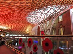 The decoration includes a ~5m fibreglass poppy installed to commemorate the 100th anniversary of the First World War