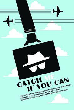 Catch Me If You Can (2002) ~ Minimal Movie Poster by Alex Eylar #amusementphile