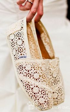 Lace and Floral Toms Flats Click for more
