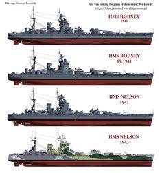 HMS Rodney & Nelson battleships