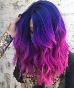 Awesome Pulp Riot Blue Hair Colors for Medium to Long Length Haircuts Check more at beauty.weddingrin… - Awesome Pulp Riot Blue Hair Colors for Medium to Long Length Haircuts , Cute Hair Colors, Hair Color Purple, Hair Dye Colors, Cool Hair Color, Purple Colors, Blue And Pink Hair, Black To Purple Ombre, Rainbow Hair Colors, Exotic Hair Color