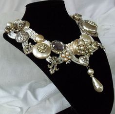 Hey, I found this really awesome Etsy listing at https://www.etsy.com/listing/82215271/pearl-n-rhinestone-bridal-necklace-all